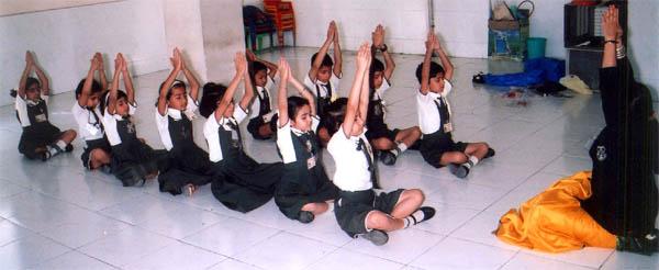 Yoga nas escolas