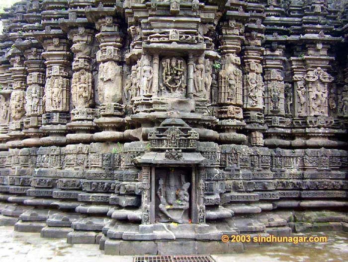 1060 AD Shiv Temple. Back side Architecture of the Mandir.