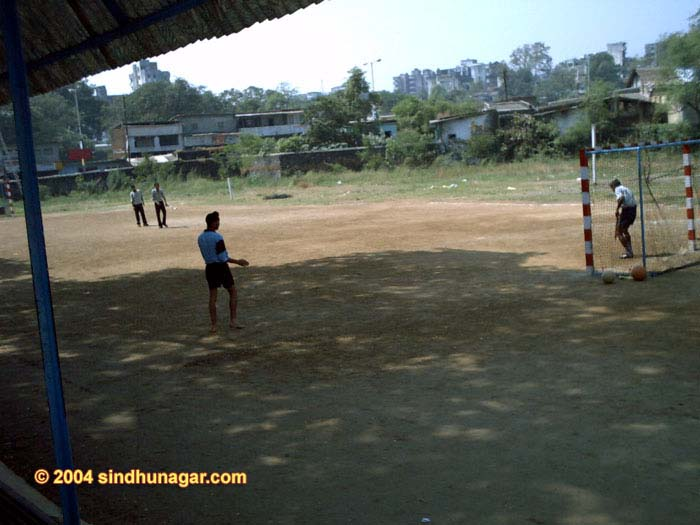 Smt. Chandibai Himatmal Mansukhani College, Foot Ball ground on the front side.