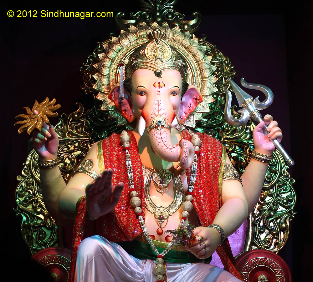 Ganpati Idol closeup - Ganesh Chaturthi 2012 UFC Ulhasnagar